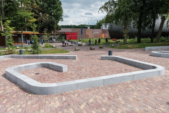 Solid zitelement grijs voorzien van anti-graffity coating|betonnen parkmeubilair