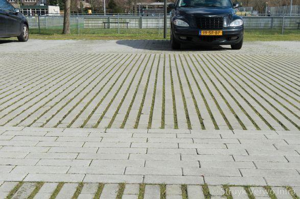 Hydro Lineo|groenbestrating|Mient den Haag|groene parkeerplaats|graslijnen