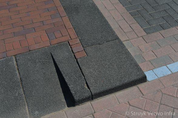 Hoekstuk trottoirband 38/40 gewassen zwart|Lavaro inritband 65x20x50cm vlak zwart glisando