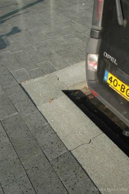 parkeerplaats hoekstuk
