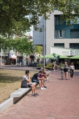 Zitranden van beton|Herinrichting Gele Rijders Plein in Arnhem