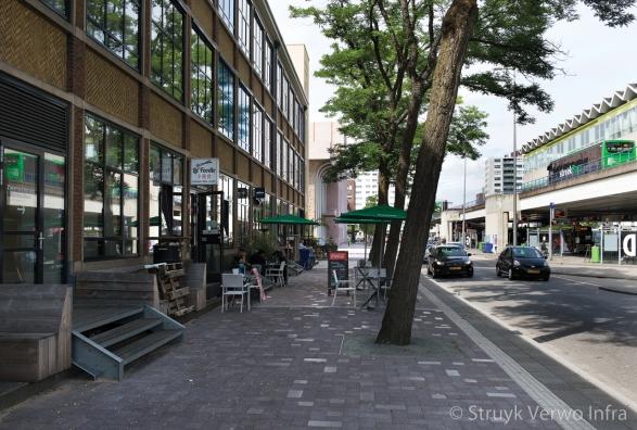 Mixbestrating op de stoep|Hart van Zuid Rotterdam