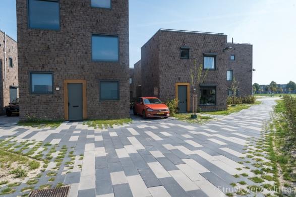 Groenbestrating in woonwijk|het Vrije Veld Almere