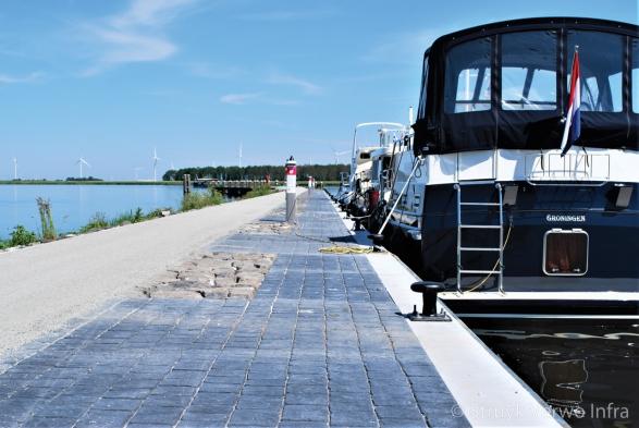 verharding pier Spakenburg