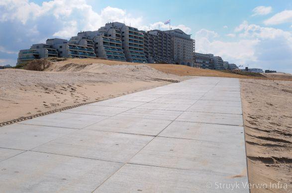 Strandopgang Noordwijk vloerplaten|Wernink vloerplaat