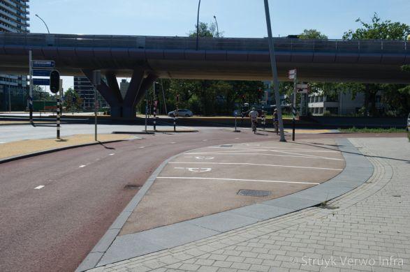 Renovatie Kruispunt 24 Oktoberplein Utrecht belijning