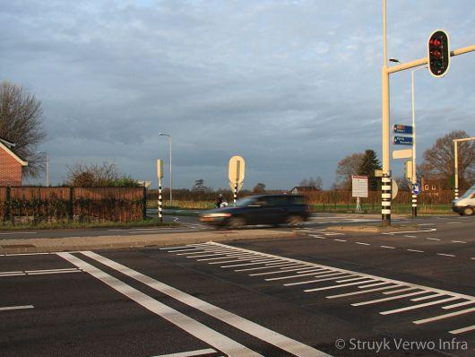 Verkeersremming voor een stoplicht
