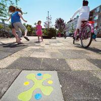 Kindvriendelijke routes - speelse stoeptegels