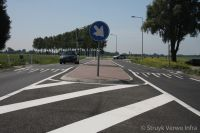 Kruispunt provinciale weg