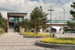 Zitranden van geslepen beton|NS station Dronten Noord |Energieweg Dronten|groenplinten beton