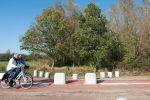 Betonnen elementen voor een fietssluis