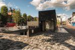 Breccia tagenta mix bestrating|Herinrichting Damsterdiep Groningen|exclusieve bestrating
