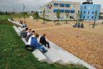 Terreininrichting VMBO school Groningen tribune