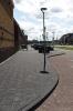 Uitgewassen 30x30 tegels op trottoir|gewassen betontegels|siertegels