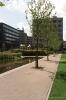 Uitgewassen bestrating Kantorenpark WTC terrein Almere Stadspark|gewassen straatsteen