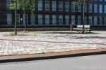 Verroeste trottoirband|trottoirband met roest look|zware trottoirband|brede betonband