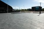 Liscio pietra|wildverband geslepen bestrating|Bataviaplein|gepolijste betonsteen