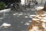 Drainage stenen 40x20 bij fietsenstalling
