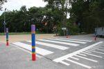 Verhoogd kruispunt in de buurt van school