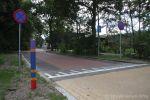 Veilige oversteekplaats op weg naar school