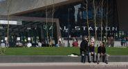 Betonnen zitrand voor Rotterdam Centraalterrazzo banden