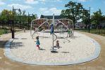 Randen van beton om zandbak |inrichting speelplekken
