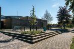 Inrichting schoolplein ROC te Ede|trapelementen beton