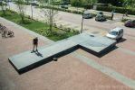 Muzieknoot van beton voor Lawei in Drachten
