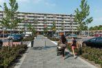 Mix van uitgewassen en geslepen bestrating|Chopinplein in Culemborg g