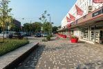 Herinrichting winkelcentrum den Bosch met twee kleuren dikformaten