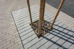 Betonnen boomspiegel rechthoek van beton
