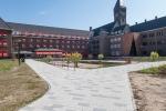 Bestrating rondom Berchmanianum Radboud Universiteit Nijmegen