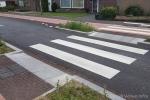 voetgangersoversteekplaats bij wegversmalling | VOP