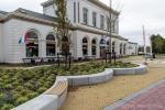 Zitranden langs groen|Inrichting Nieuwe Willemshaven in Harlingen