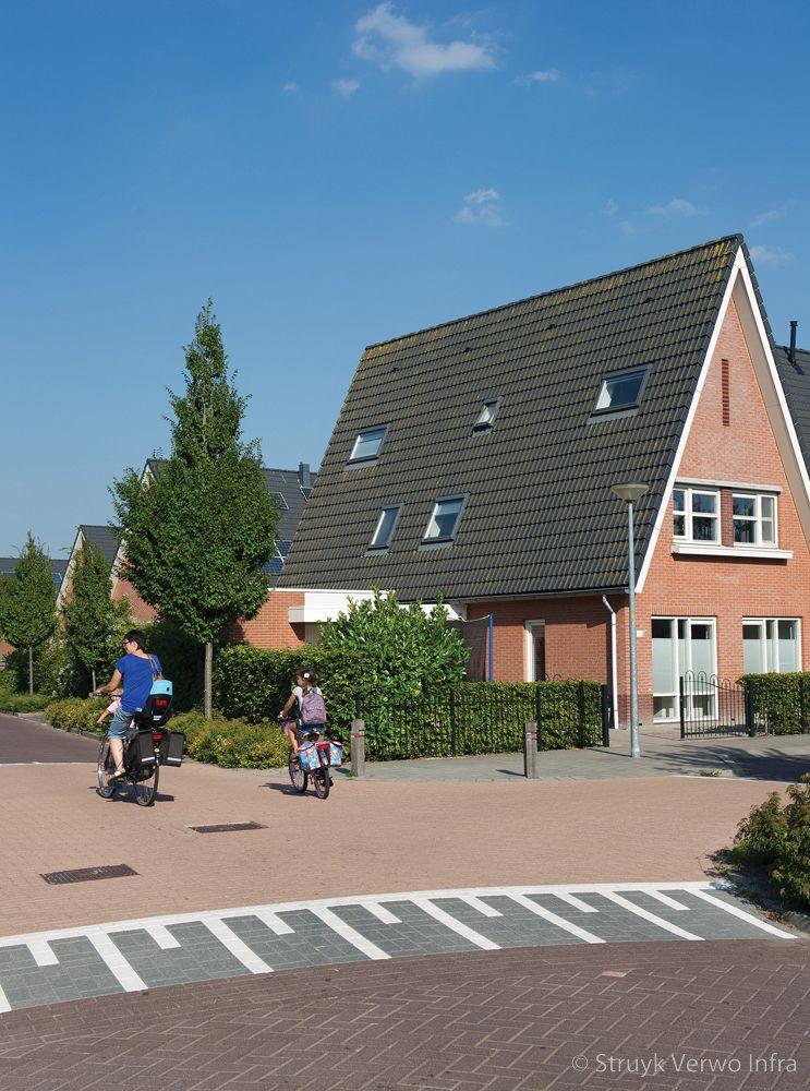 Uitgewassen bestrating in woonwijk hoenderpark schagerbrug betonklinkers