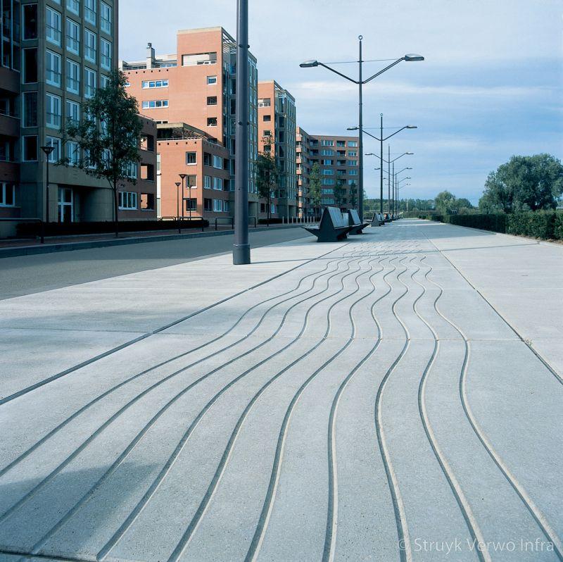 Vloerplaat smoothwave boulevard figuratieplaat sinusvorm in een plaat
