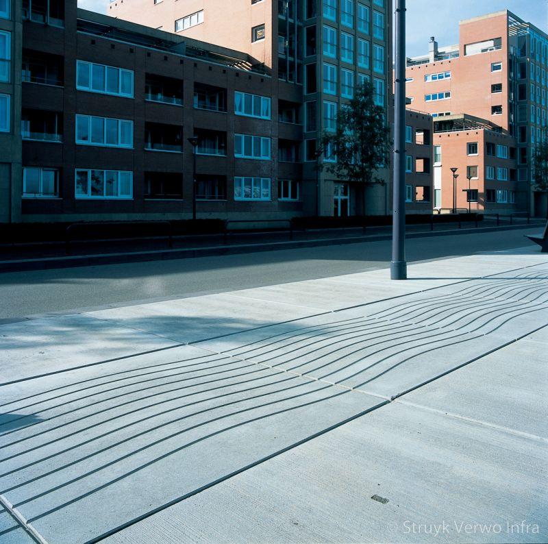 Figuratieplaat boulevard vloerplaat smoothwave sinusvorm in een plaat baukje trenning