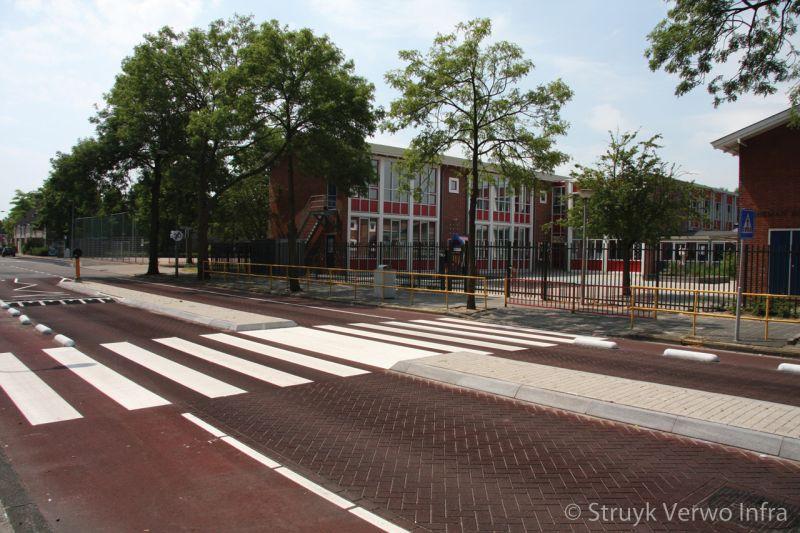 Eersremming schoolzone zebrapad