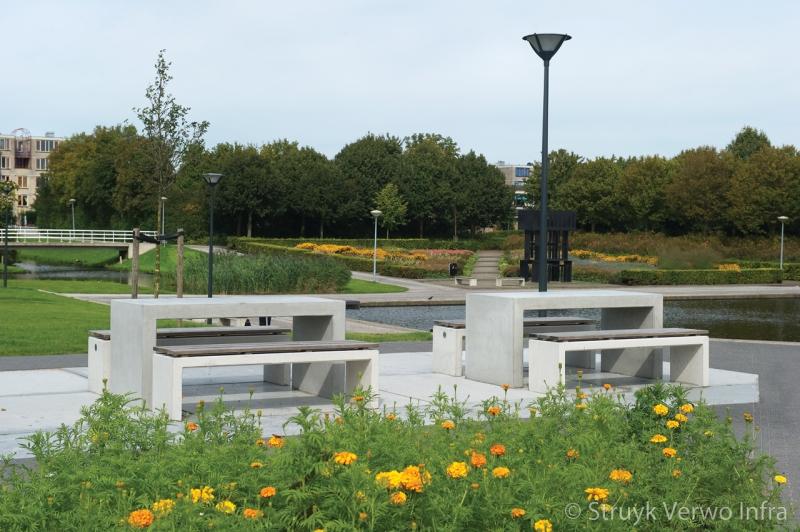 Betonnen picknick set betonnen parkbank