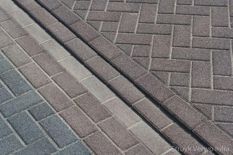 Lavaro bruin 21x10 5x8 in keperverband betonklinker gewassen