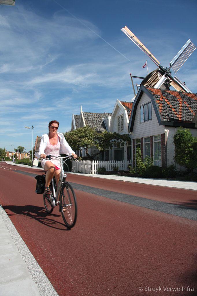 Fietsstraat geleider fietsstraat met geleider frieseweg alkmaar