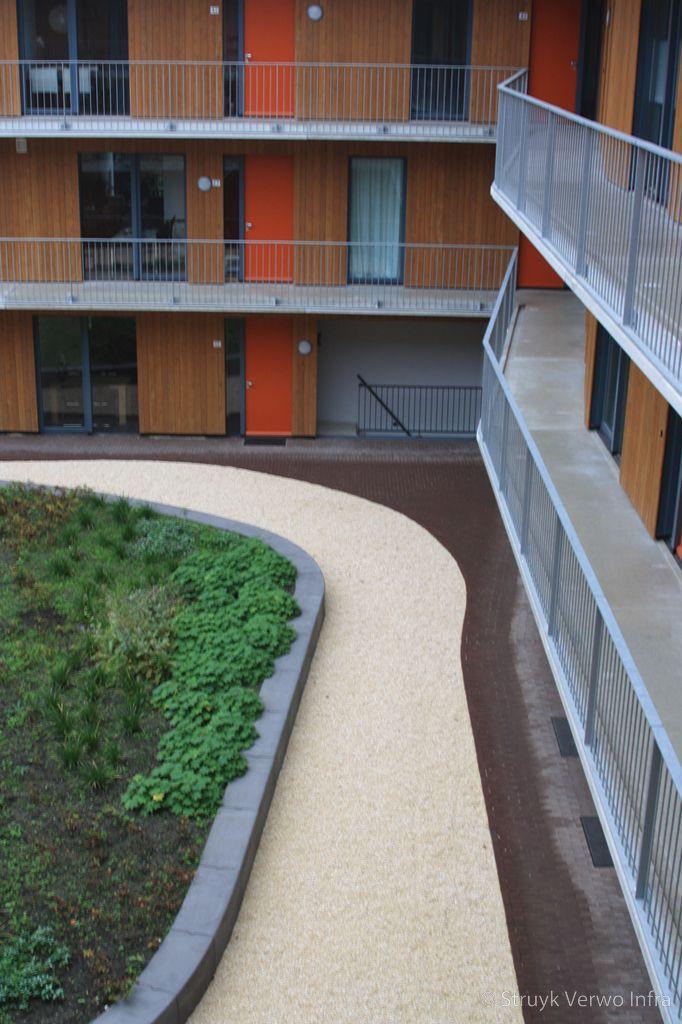Bloembakband beton 40x50 binnentuin wooncomplex zwaluwpark arnhem