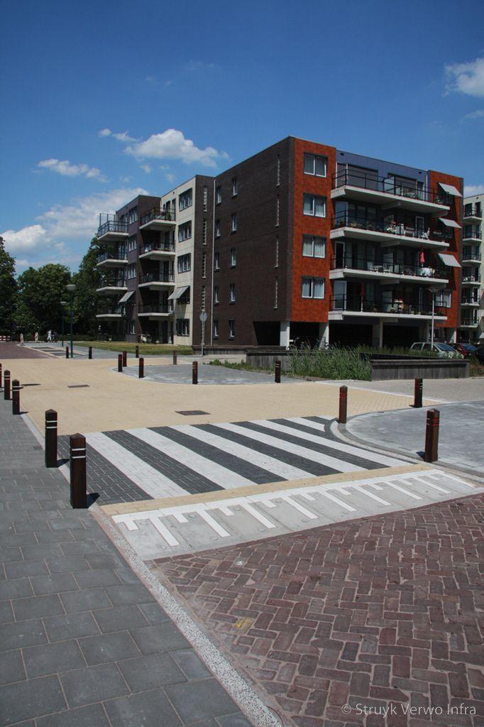 Zebrapad verkeersplateau oversteekplaats