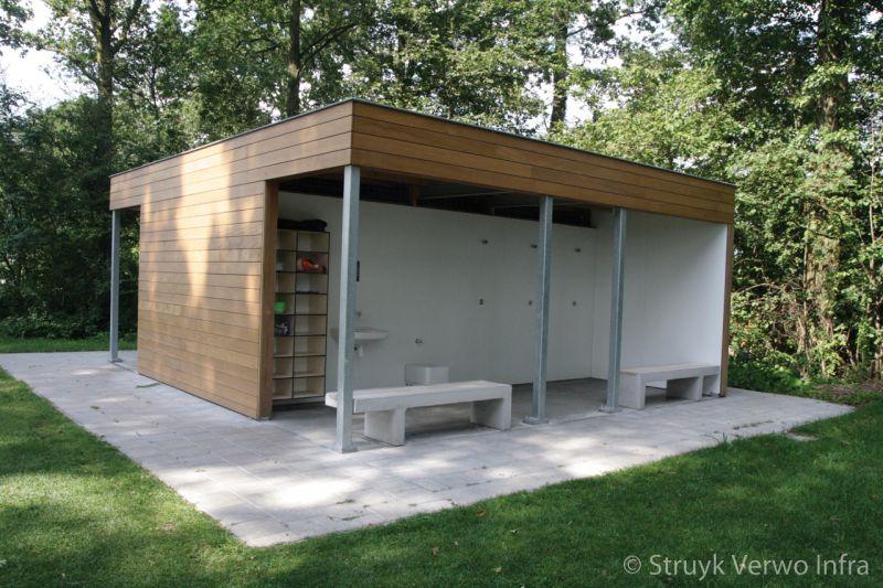 Link banken met hout maarssen parkbank buitenmeubilair beton