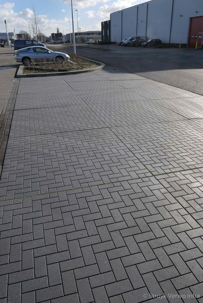 Inrit bedrijventerrein vloerplaat steenmotief