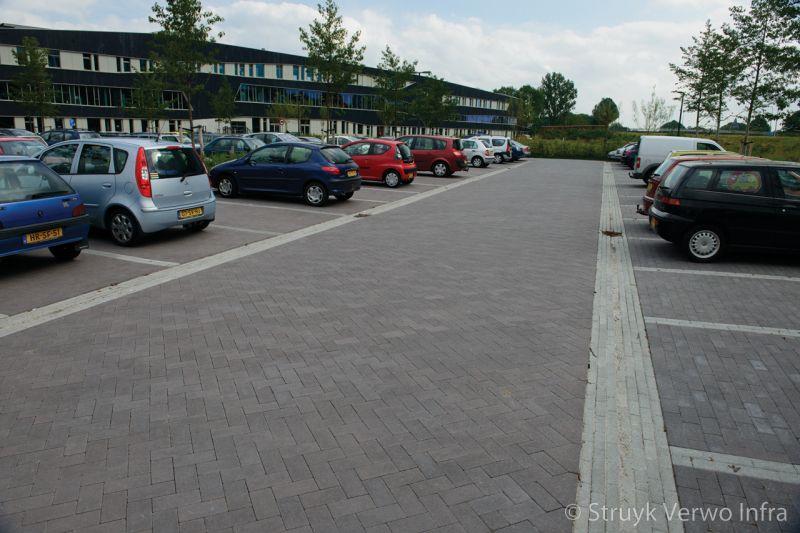 Inrichting parkeerplaats vmbo school groningen elementenverharding