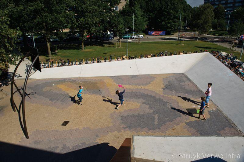 Mix van diverse kleuren keranova gekleurde betonklinkers