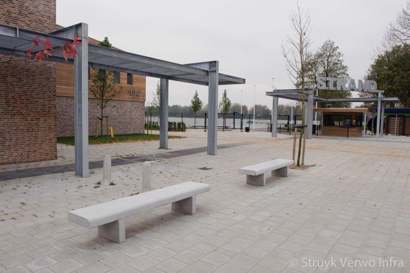 Zitelementen van beton betonnen buitenmeubilair betonnen bank