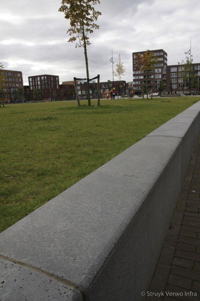 Gestraalde keerelementen theo van goghpark ijburg amsterdam maatwerk beton