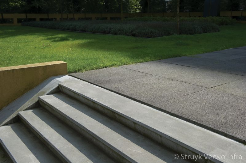 Grootformaat stenen breccia nero trappartij deklaag stenen